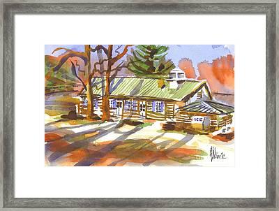 Penuel Lodge In Winter Sunlight Framed Print by Kip DeVore