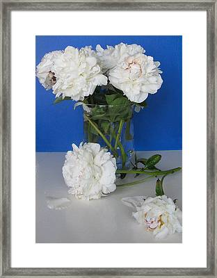 Framed Print featuring the photograph Peonies 1 by Margaret Newcomb