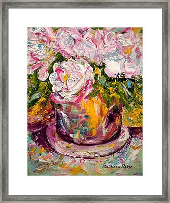 Peonies Framed Print by Barbara Pirkle