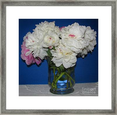 Framed Print featuring the photograph Peonies Bouquet 5 by Margaret Newcomb