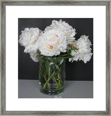 Framed Print featuring the photograph Peonies Bouquet 6 by Margaret Newcomb