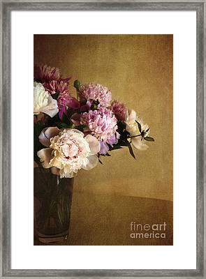 Peonies Framed Print by Elena Nosyreva