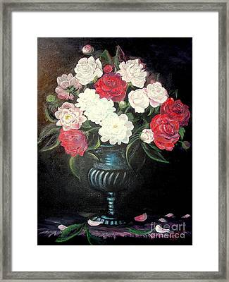 Peonies Framed Print by Sorin Apostolescu