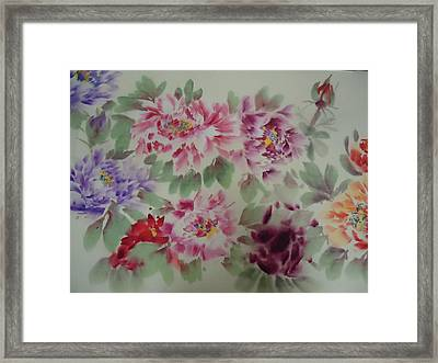 Peony  0725-5 Framed Print by Dongling Sun