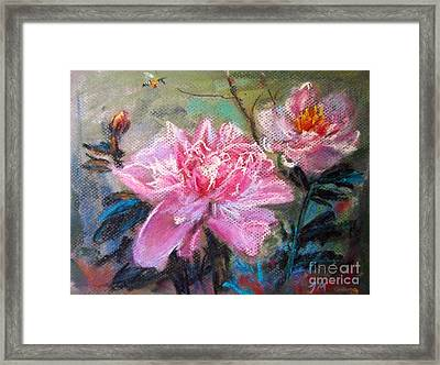 Peony Framed Print by Jieming Wang