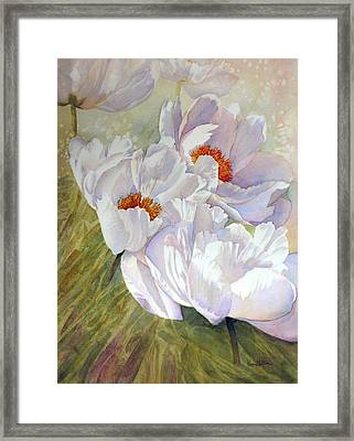 Peony Party  Framed Print by Karen Mattson