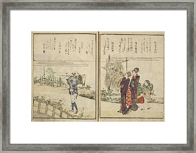 People And Landscape Framed Print by British Library