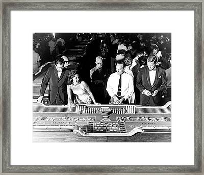 People At Craps Table Framed Print by Richard Waite