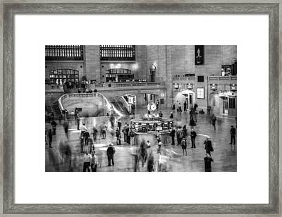 People At The Grand Central Station Framed Print