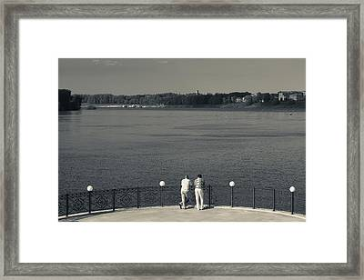 People By The Volga River, Uglich Framed Print by Panoramic Images