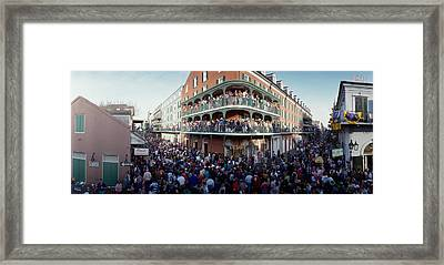 People Celebrating Mardi Gras Festival Framed Print