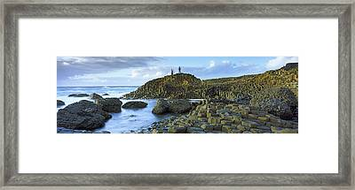 People Climbing On Rocks At Giants Framed Print by Panoramic Images