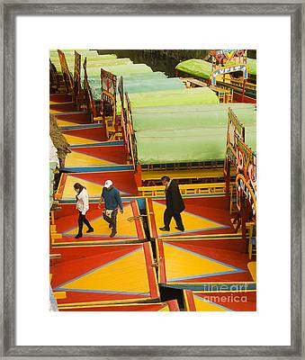 People Crossing Chalupas  Framed Print