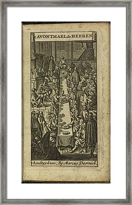 People Eating And Drinking Framed Print by British Library