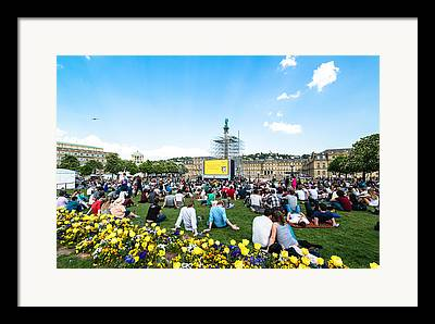 Open Air Cinema Framed Prints