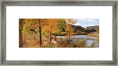 People Fishing In The Rio Grande River Framed Print by Panoramic Images