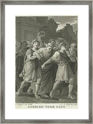 People Go To The Feast In Honor Of Cato, Print Maker Framed Print by Lambertus Antonius Claessens And Jacques Kuyper