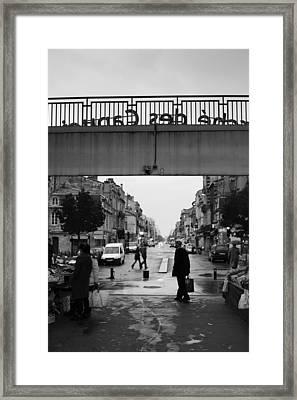 People In A Market, Marche Des Framed Print
