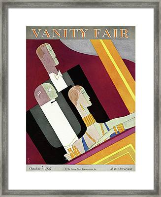 People In Formal Attire In A Theater Box Framed Print by Eduardo Garcia Benito
