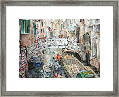 People In Venice Framed Print by Becky Kim