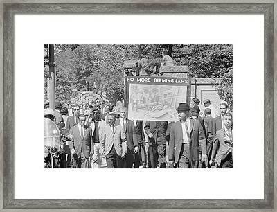 People March In Memory Of Negro Framed Print by Stocktrek Images