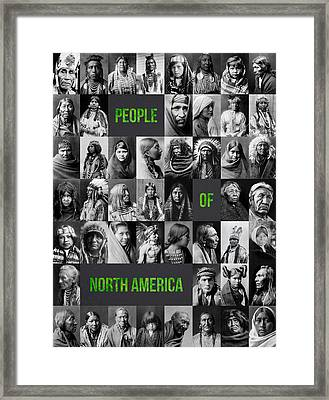 People Of North America Framed Print by Aged Pixel
