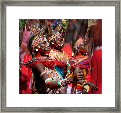 People Of The Samburu Tribe Framed Print by Panoramic Images