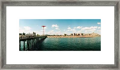 People On The Beach, Coney Island Framed Print
