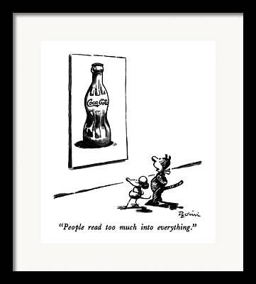 Coca-cola Drawings Framed Prints