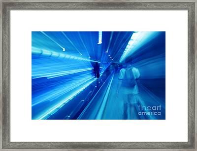 People Rush In Subway. Framed Print by Michal Bednarek