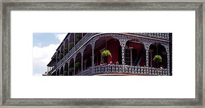 People Sitting In A Balcony, French Framed Print by Panoramic Images