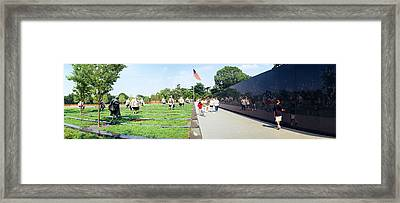 People Visiting The Korean War Framed Print by Panoramic Images