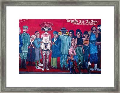 People Walking Mural Framed Print by Mark Goebel