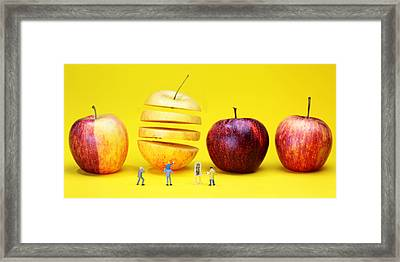 People Watching The Red Apples Framed Print