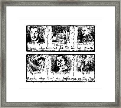People Who Counted For Me In My Youth. People Who Framed Print by Huguette Marte