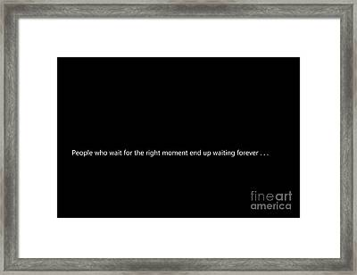 People Who Wait . . . Framed Print