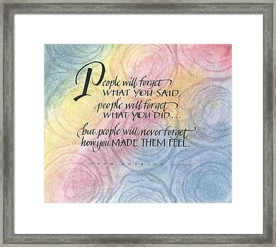People Will Forget Framed Print