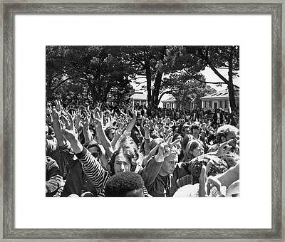 People's Park Rally Framed Print by Underwood Archives