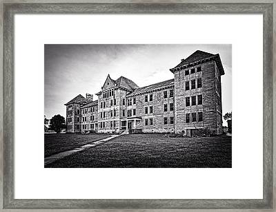 Peoria State Hospital Framed Print by Jeff Burton