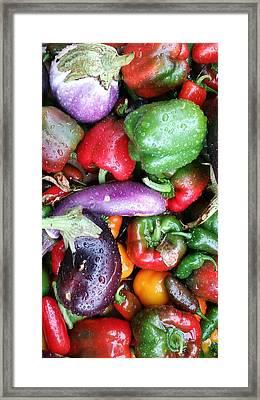 Pepper Eggplant Mix Framed Print