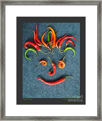 Framed Print featuring the photograph Pepper Person by Patricia Overmoyer