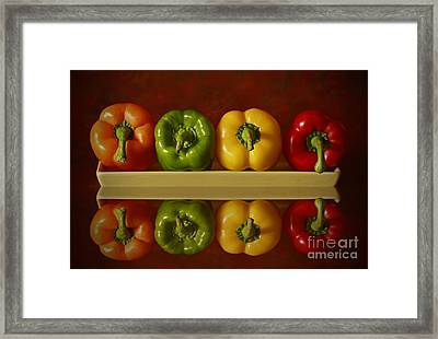 Pepper Pleasures Framed Print by Inspired Nature Photography Fine Art Photography