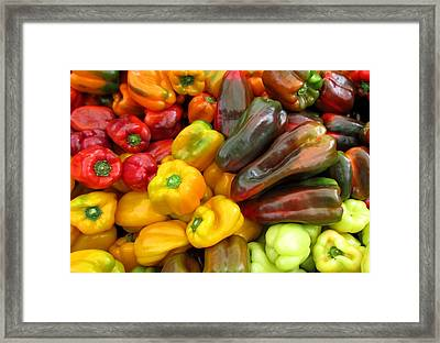 Pepper Rainbow Framed Print