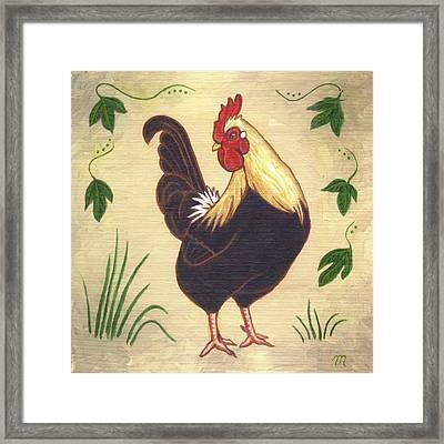 Pepper The Rooster Framed Print