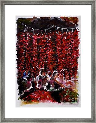 Pepper Framed Print by Zaira Dzhaubaeva