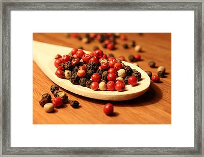 Peppercorns Framed Print