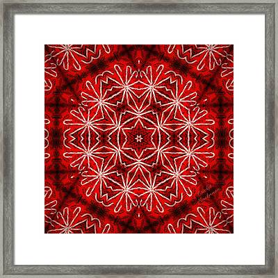 Peppermint Snowflake Framed Print by Cricket Hackmann