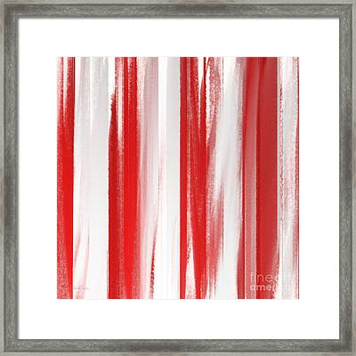 Peppermint Stick Abstract Framed Print
