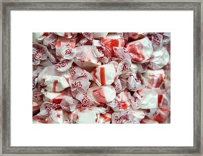 Peppermint Taffy Framed Print