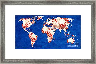 Peppermint World Painting Framed Print